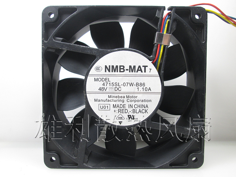 Free Delivery. New original 4715SL-07W-B86 12038 48V 1.10A 12CM violent cooling fan new original delta 12cm tha1248be 12038 48v 2 6a cooling fan