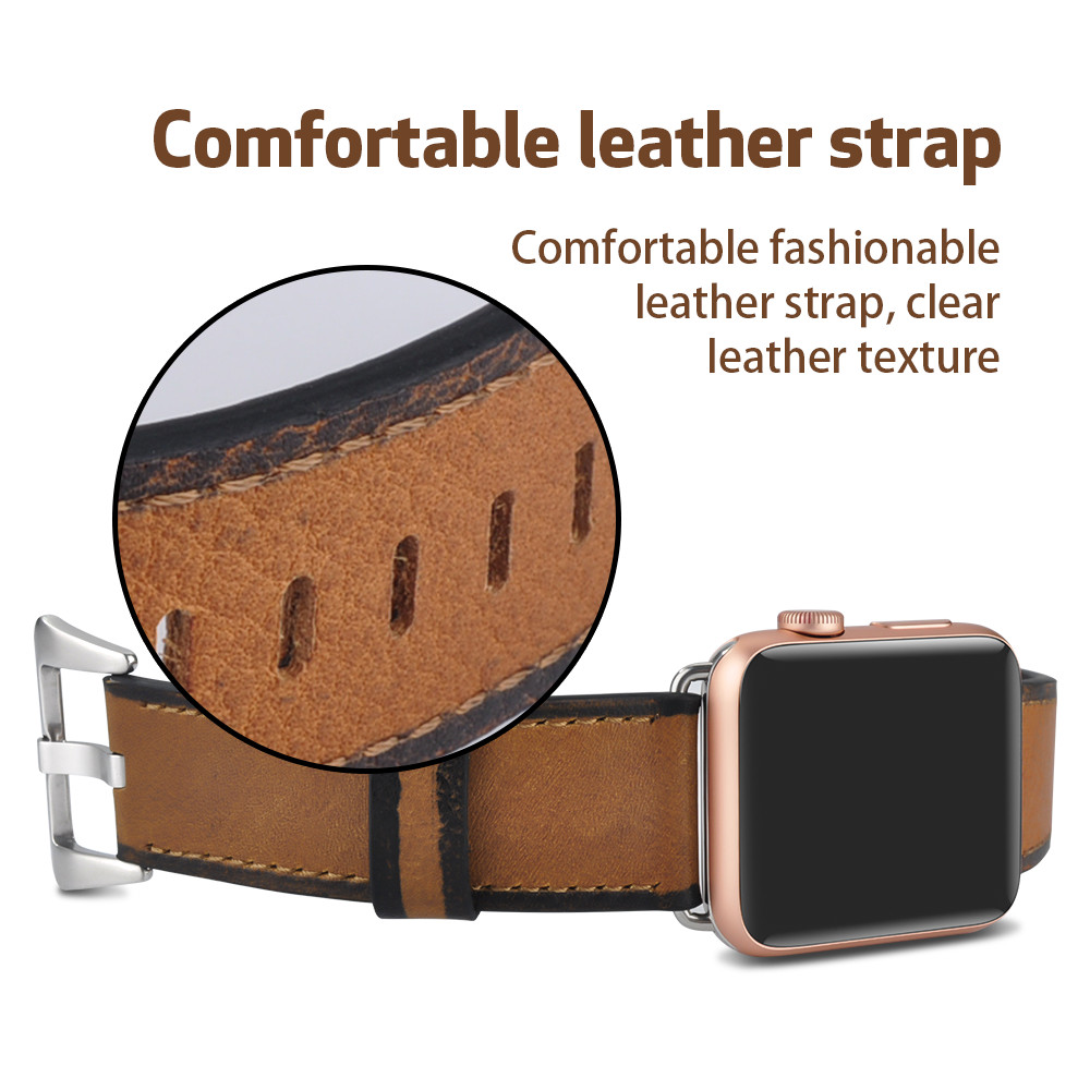 Genuine Leather Strap for Apple Watch Band 38mm 42mm Series 3 2 1 Watchband with Panerai Buckle for iWatch Series 4 40mm 44mm 42mm 38mm for apple watch s3 series 3