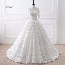 ZYLLGF Imported Wedding Dresses Dresses 2017 Short Sleeve