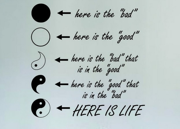 Yin Yang Here Is Life Quote Vinyl Wall Decal Chinese The Eight