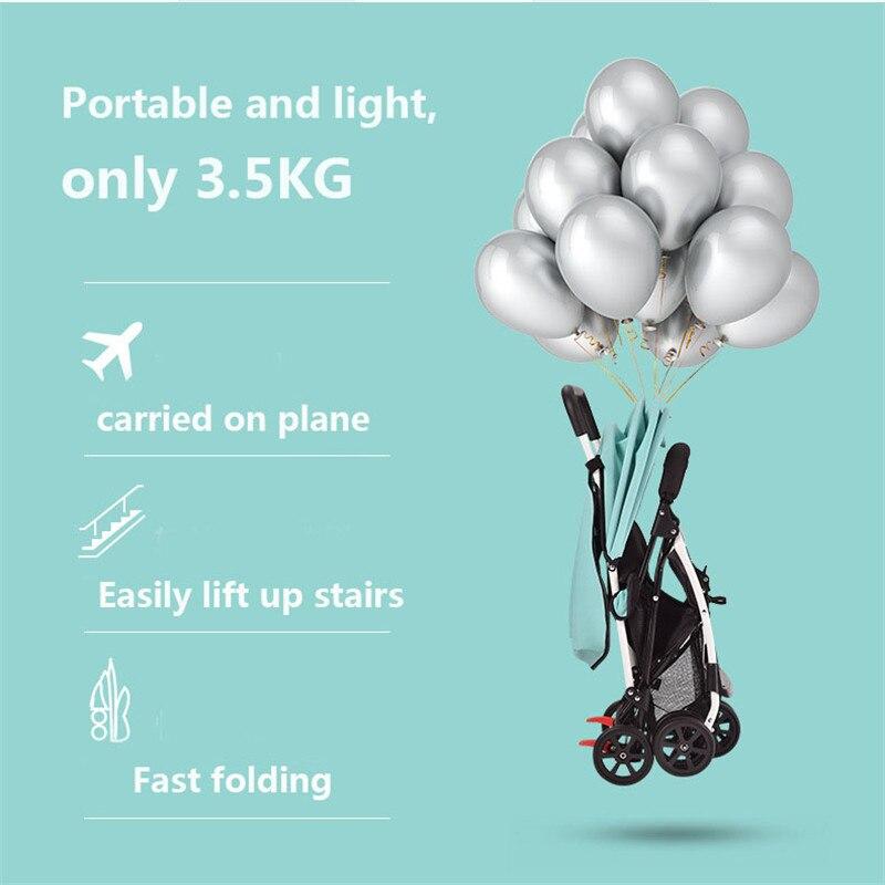 Nouveau bébé poussette léger bébé landau poussette quatre roues Troller haut paysage landau avec bande d'avertissement de sécurité
