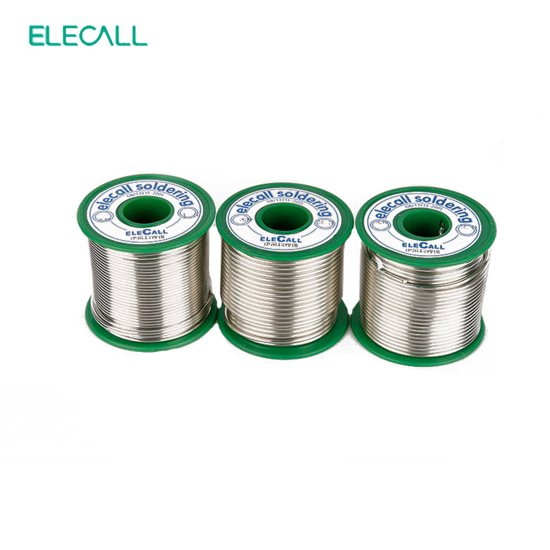ELECALL New Arrival Tin 2.0mm 450g 99.3SN Rosin Core Tin/Lead Free Rosin Roll Flux Reel Melt Core Soldering Tin Solder Wire qitian b5510200g lead tin soldering wire wick roll silver