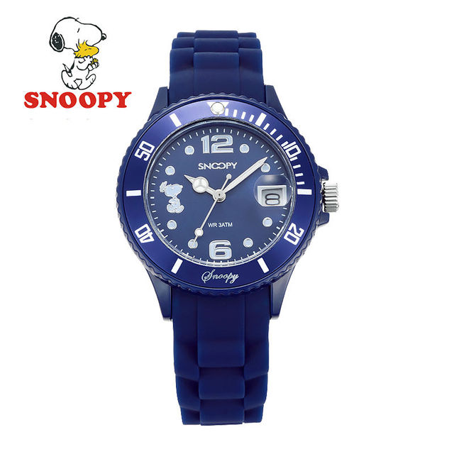 Snoopy Kids Watch Children Watch Cool Quartz Wristwatches Boys Sports Leather cl