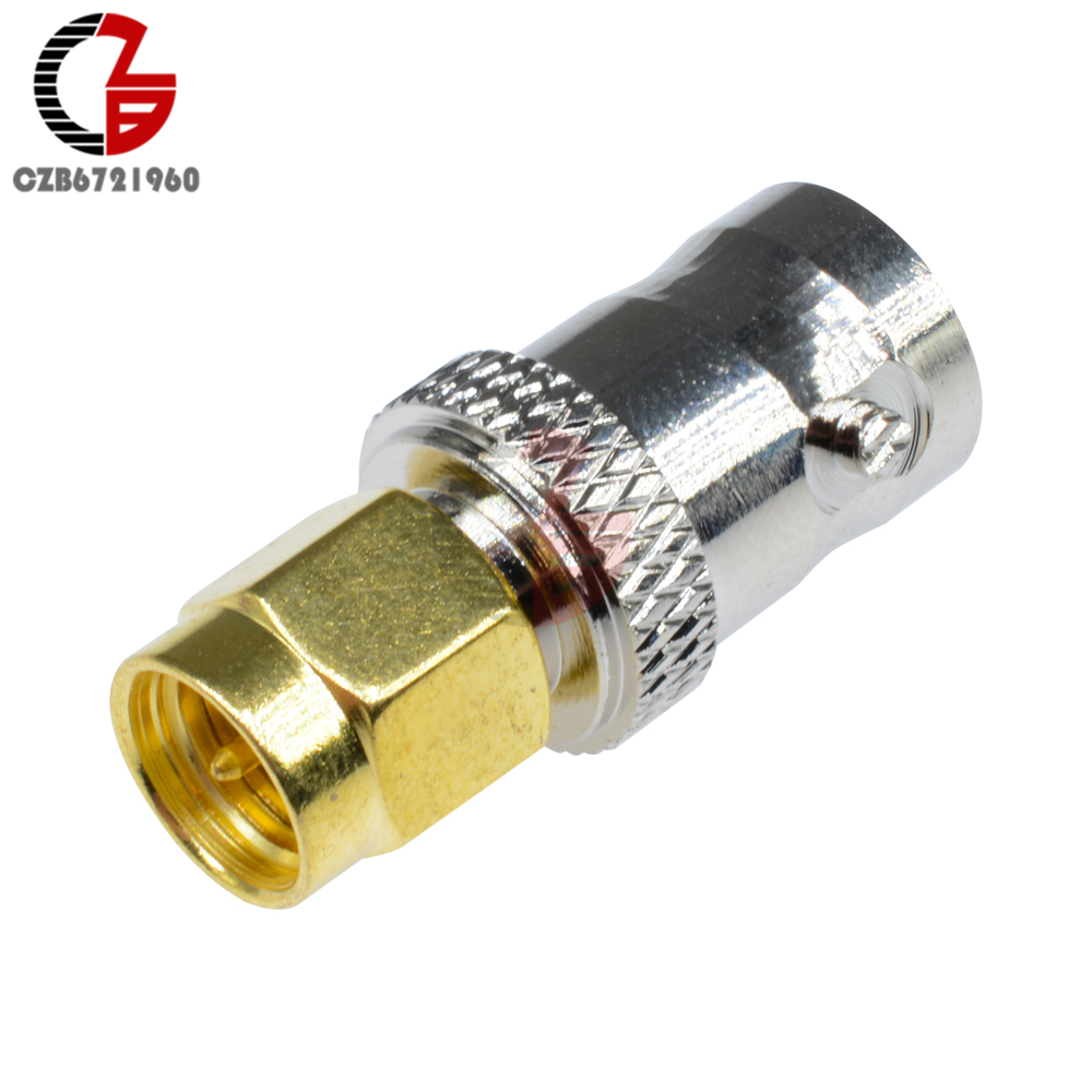 USA-CA RG188  SMA MALE ANGLE to BNC FEMALE BIG BULKHEAD Coaxial RF Pigtail Cable