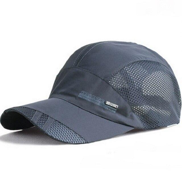 01a78739c42307 2017 Unisex Mesh Solid Baseball Cap Women Curved Brim Trucker Hat Summer  Hip Hop Dad Caps Men Gorras Snapback Hats UV Protection