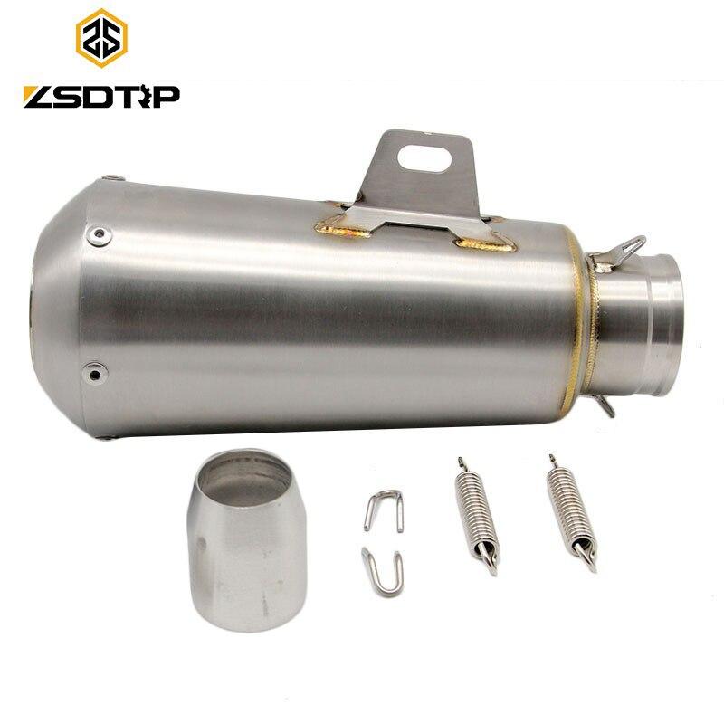 ZSDTRP 51mm Silenziatore Di Scarico Moto con DB Killer per CB250 CB400 R1 R6 ZX-6R ZX-10R GSXR Dirt Bike 125cc tubo di scaricoZSDTRP 51mm Silenziatore Di Scarico Moto con DB Killer per CB250 CB400 R1 R6 ZX-6R ZX-10R GSXR Dirt Bike 125cc tubo di scarico
