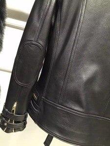 Image 5 - 2016 natural senhora jaqueta de couro 100% real ovelha couro vestuário