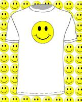 Gildan NEW Full Colour SMILEY T Shirt Rave House Party Acid Dance Trance 7 Colours Men