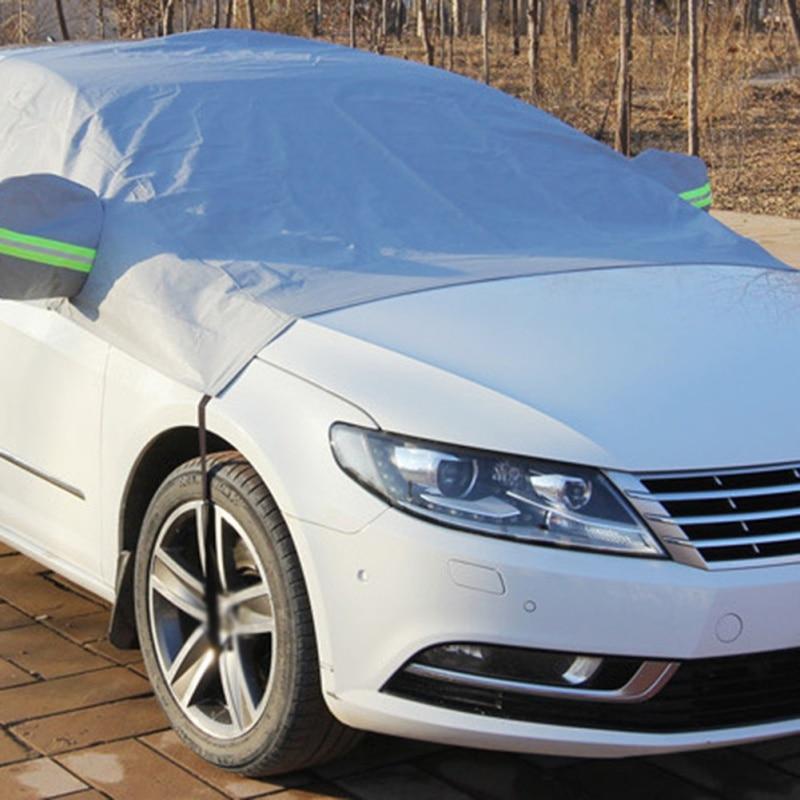Auto Abdeckung UV Schutz Wasserdicht Outdoor Indoor Schild Universal Sonnenschirm PEVA Schnee Abdeckung Vorne Abdeckung Auto Windschutzscheibe