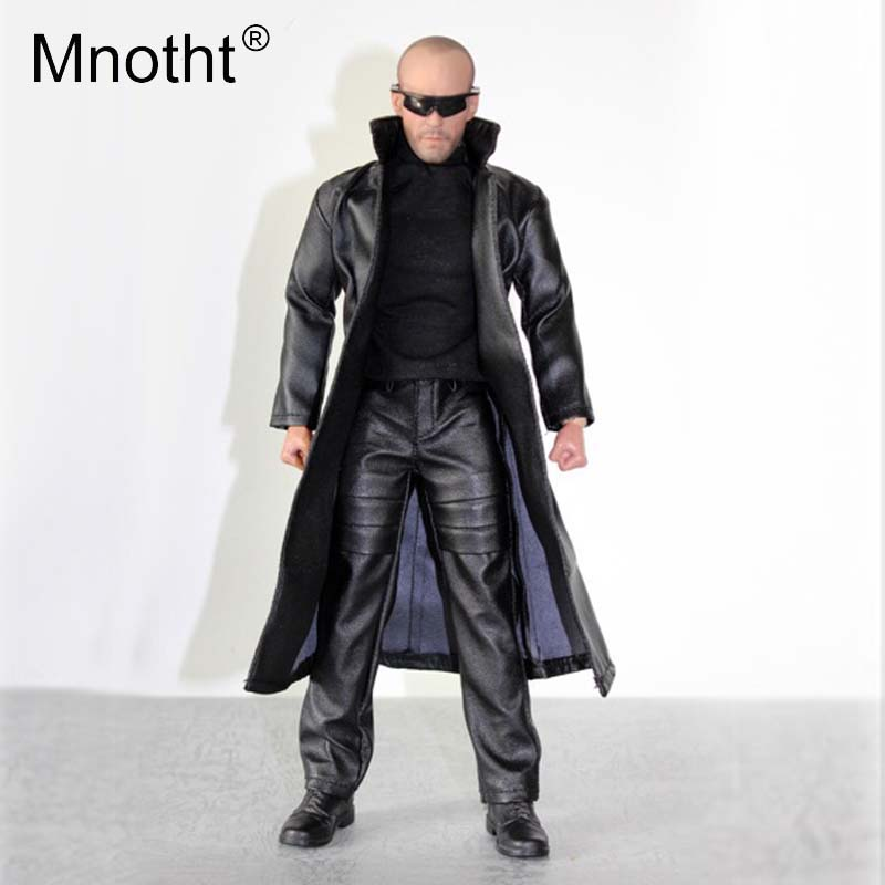 Mnotht 1 6 Scale Black coat suit Fashion Metrosexual man clothing Model For 12in Action Figure