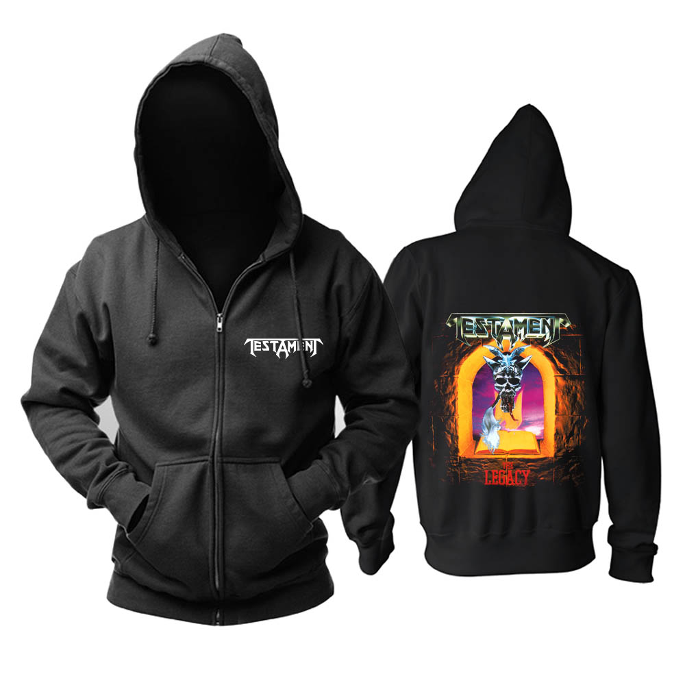 Bloodhoof Testament Rock Heavy Metal Thrash Metal The Legacy album Men In Black music Hoodie Asian Size image