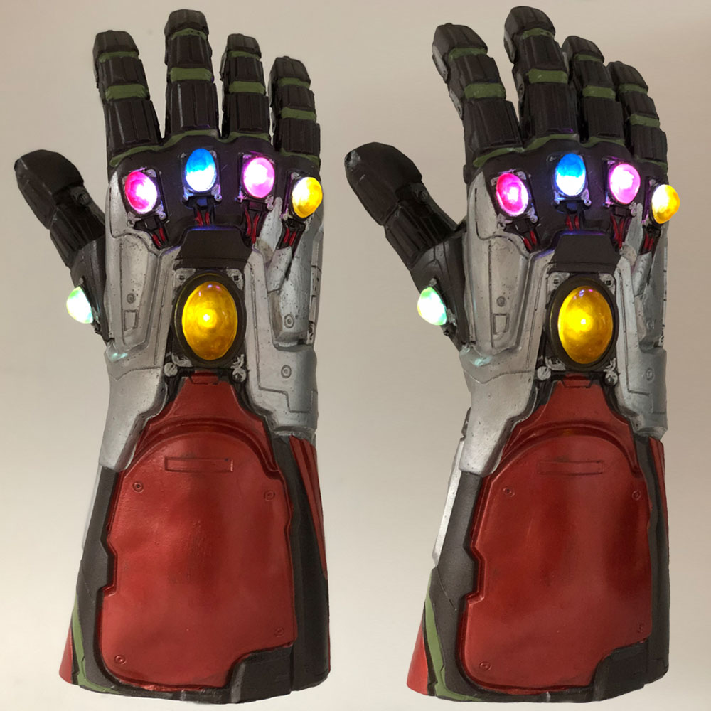 Led Light Iron Man Infinity Gauntlet Avengers Endgame Cosplay Arm Thanos Gauntlet Latex Gloves Arms Superhero Weapon Props New6