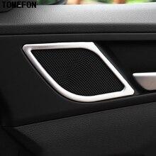 Для Hyundai Tucson 2016 новинка 2017 года Нержавеющаясталь передней двери до Динамик крышка Накладка 2 шт.