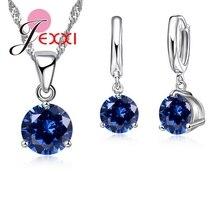 JEXXI Set Colliers Pendentifs Cristal 8  ...