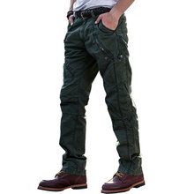 2017 Hot Fashion Cotton Cargo Pants Men Casual Slim Military Trousers Men Pantalon Homme (Asian Size)
