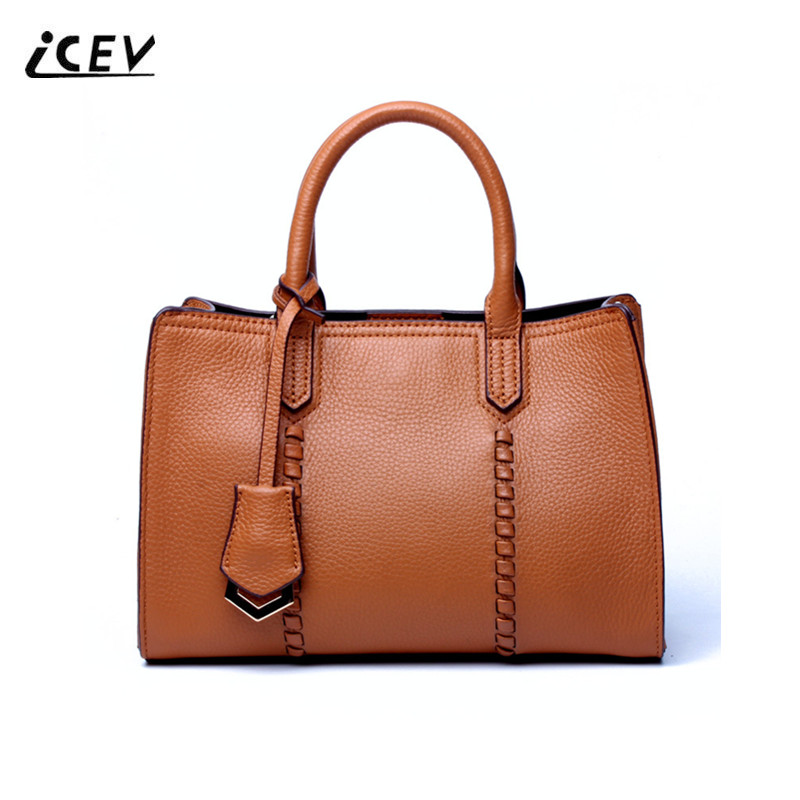 ICEV New Sequined Designer High Quality Genuine Leather Handbags Women Leather Wave Top Handle Bags Handbags Women Famous Brands icev new brands simple classic female cow leather designer handbags high quality genuine leather handbags women leather handbags