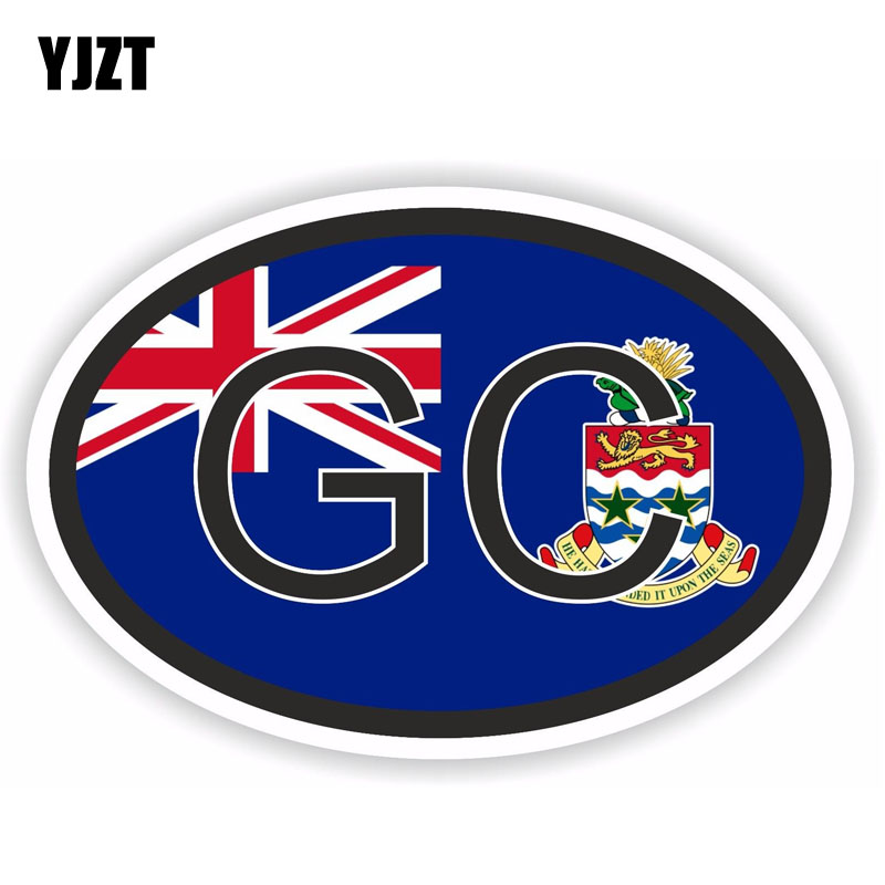 US $0 98 40% OFF YJZT 12 9CM*8 7CM Creative Funny Cayman Islands GC Country  Code Car Sticker PVC Decal 6 0213-in Car Stickers from Automobiles &