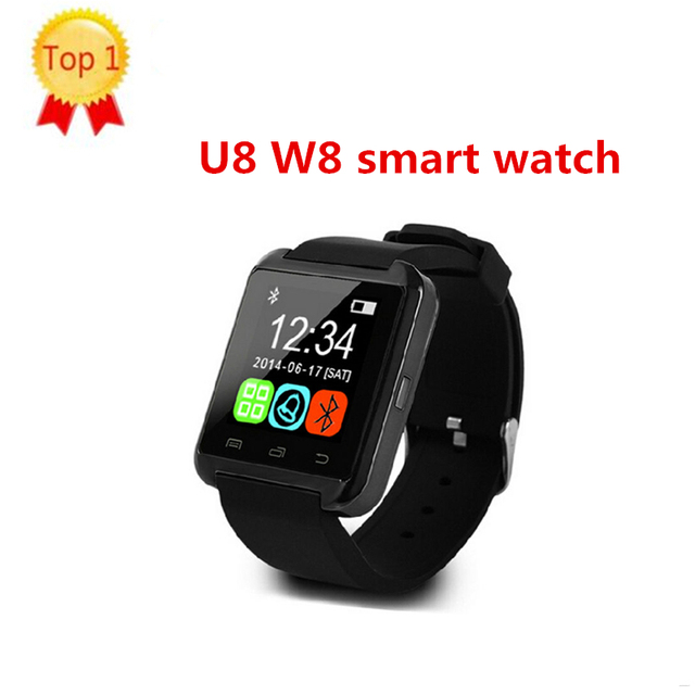more photos 1abc0 0b7b7 US $10.6 |W8 SmartWatch Bluetooth U8 Smart Watch For IOS IPhone IPhone  4/5S/6 Samsung S4/Note 3 HTC Android /Windows/IOS Phone Smart -in Smart  Watches ...