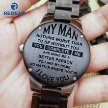 Para O Meu Homem Não Há Nada Pior do que Sem Você Me Completa UMA Pessoa Melhor A Minha Casa EU Te Amo Gravado Zebra relógio de madeira