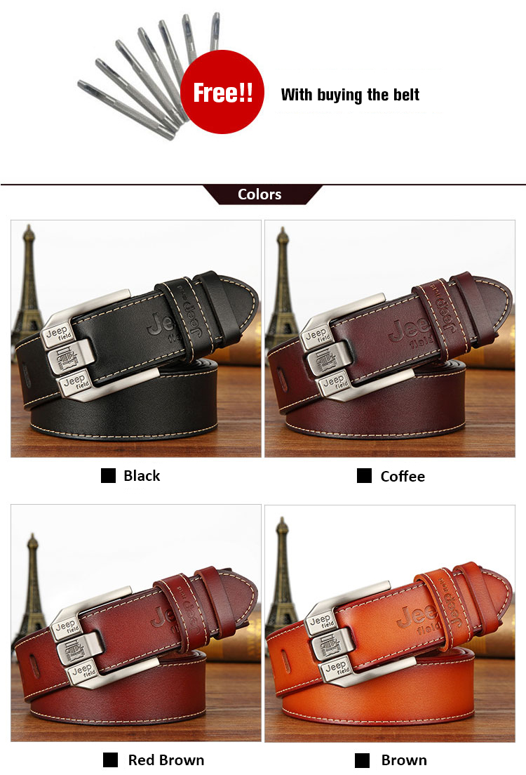 (8)Designer men's belts for men belt genuine leather High quality famous brand Pin Buckle Strap Luxury Male Belts Man Belt Jeans