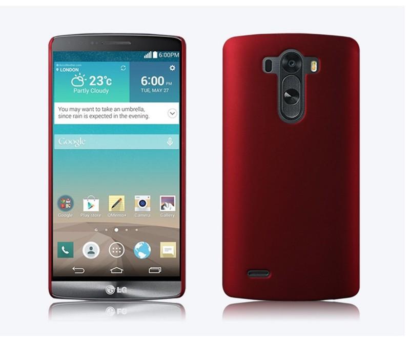 Dla lg g3 case ultra thin matowe matte mocno plecy pokrywa pc tarcza skóry protector telefon komórkowy case do lg g3 d855 d850 d851 2