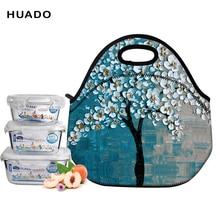 Neoprene Lunch Bag 3D Printed Unicorn Time Portable for Women Picnic Snack women/men