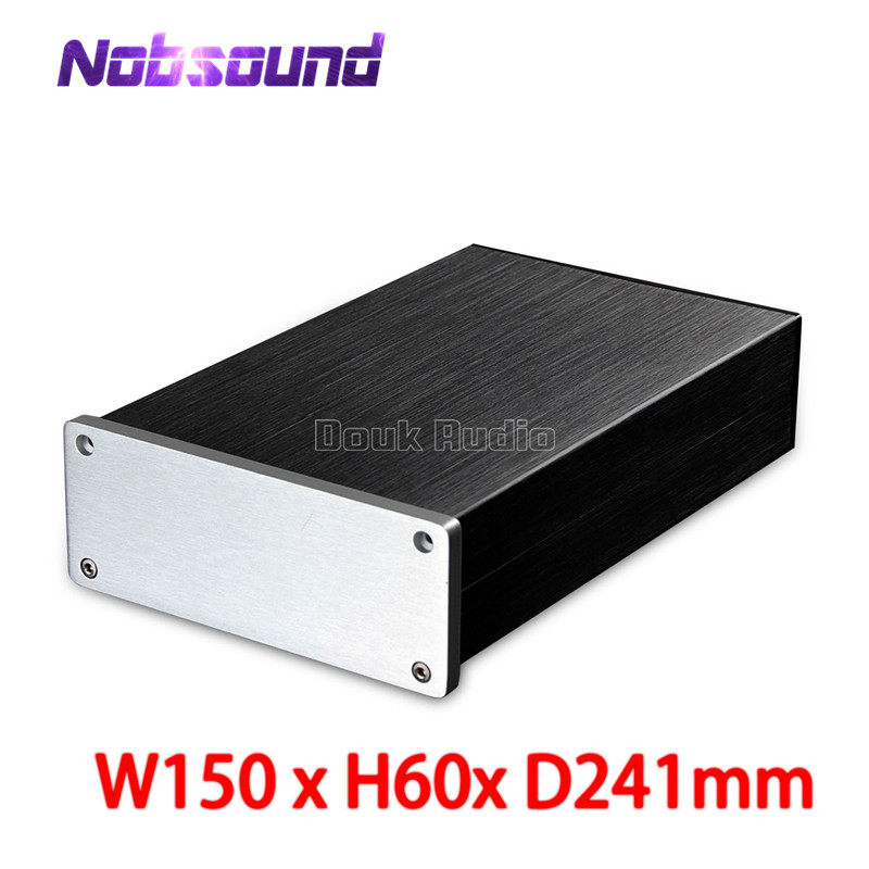 Nobsound Blank Aluminium Chassis Power Amplifier Case Headphone Amp Enclosure DIY Cabinet