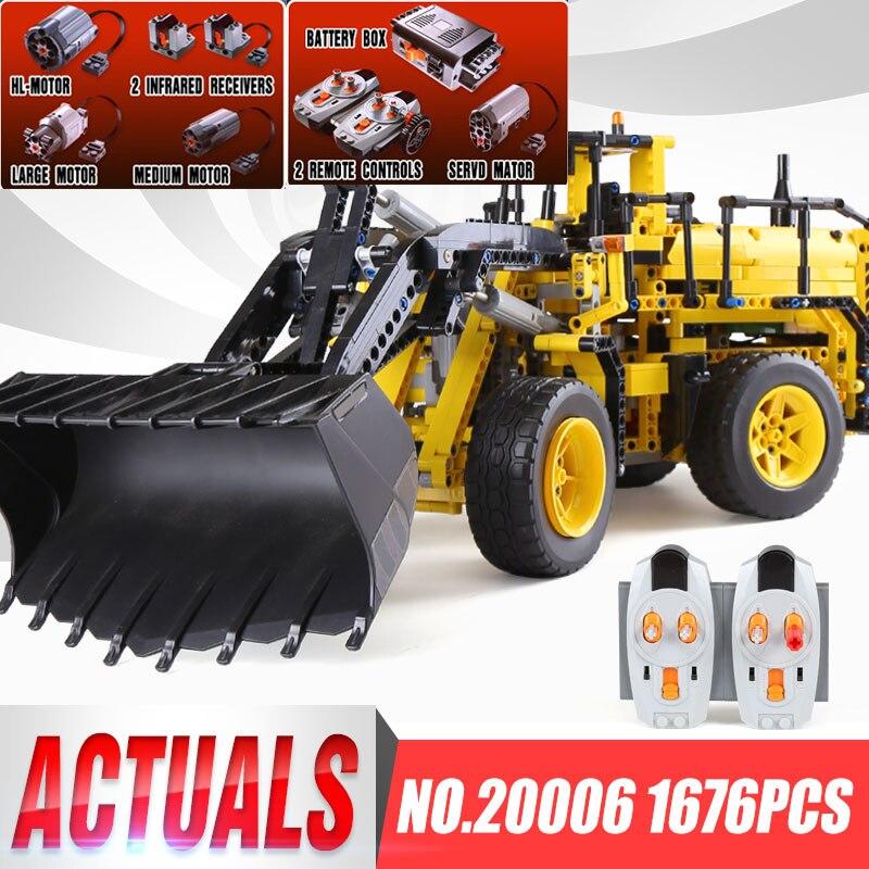 LEPIN 20006 Technic Motors Power L350F Wheel Loader Model Compatible Legoing 42030 Building Blocks Bricks Children Brithday Gift недорого
