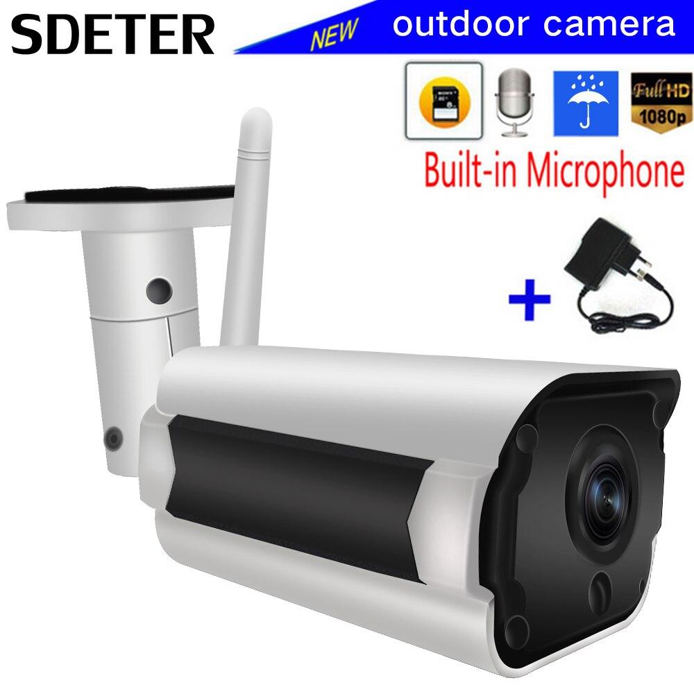 SDETER IP Caméra Wifi Sans Fil CCTV Bullet Extérieure Étanche 1080 p 720 p Vision Nocturne IR Onvif Caméra de Sécurité Deux façon Audio P2P
