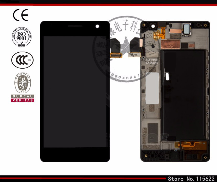 Pantalla LCD para Nokia Lumia 730 Dual Sim Del Teléfono Celular (negro con panta