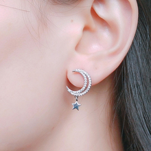 UILZ Fashion Cubic Zircon Star Moon Design Drop Earrings for Women Jewelry Wedding Dating Party UE2280