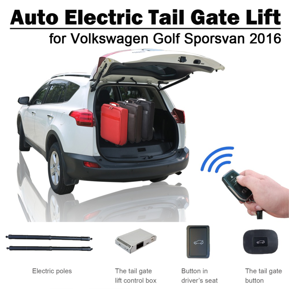 Electric Tail Gate Lift For Volkswagen VW Golf Sporsvan 2016 Remote Control Drive Seat Button Control Set Height Avoid Pinch
