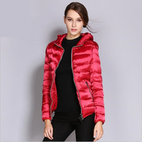 Winter Coat White Duck Down Jacket Women Slim For Women Winter Down Portable With Hat Down Jacket Size S 3XL