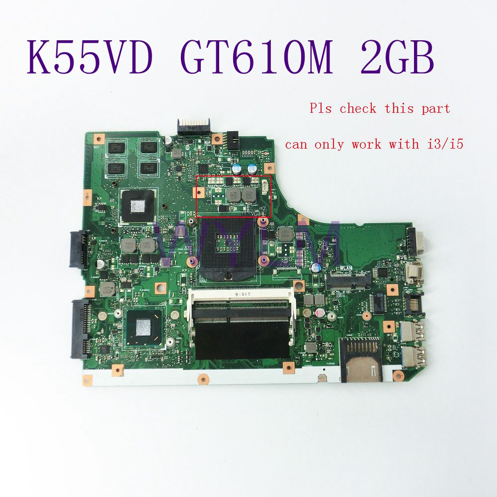 Здесь продается  K55VD GT610M 2GB N13M-GE1-S-A1 Motherboard For ASUS Laptop Mainboard 60-N89MB1301-A05 REV3.0 HM76 DDR3 Full Tested free shipping  Компьютер & сеть