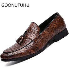 2019 new fashion mens shoes casual pu leather loafers man big size slip on shoe comfortable oxfords fo rmen hot sale