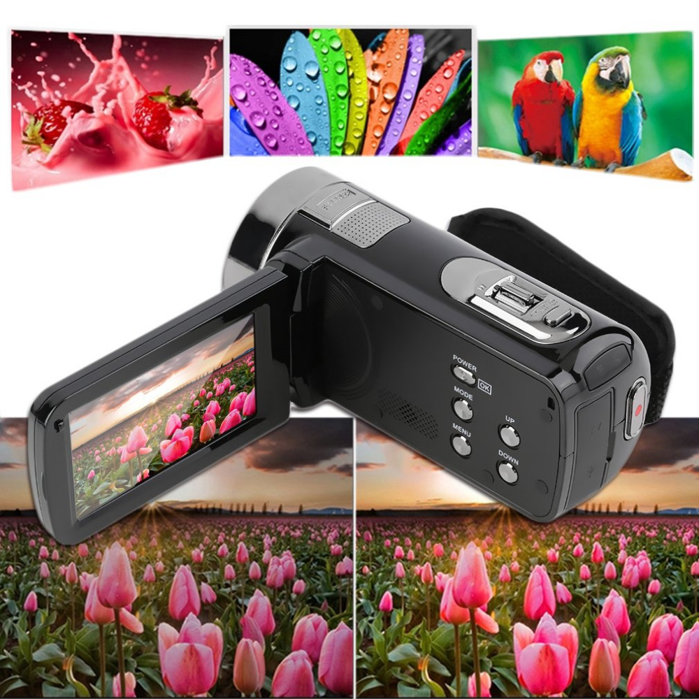 2018 Portable Consumer Camcorders 1080*720P Digital Video Camcord FHD 16X Zoom 24MP Camera DV Recorder with 3 inches LCD Screen short natural color straight synthetic lace front wig heat resisitant lace front wig for black women