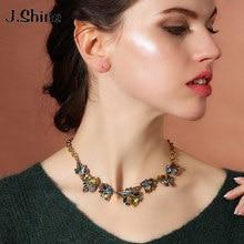 JShine New Brand Design Bohemian Korean Style Statement Fashion Women Jewelry Antique Gold Geometric Necklaces Pendants Collar