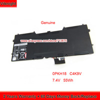 Genuine 7.4V 55Wh 0PKH18 C4K9V Battery for Dell XPS 12 9Q23 Ultrabook XPS13 9333