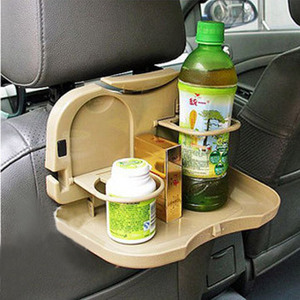 Image 2 - car seat cup holder box Car dining table folding pallet car back seat dish dining table car water cup holder shelf drink holder