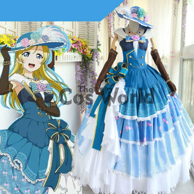 Love Live School Idol Project Ayase Eli Dancing Party Ball Gown ...