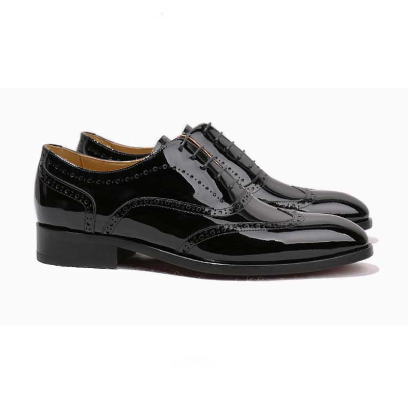 Preto Personalizado Casamento Pura De Dos Goodyear Luxo Homens Vestido Patente Couro Artesanal Black Sapatos Grimentin 75O5qWnxfz