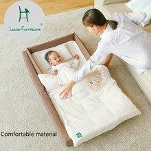 Луи модные детские кроватки для новорожденных спальный корзина для поездок, портативный складной