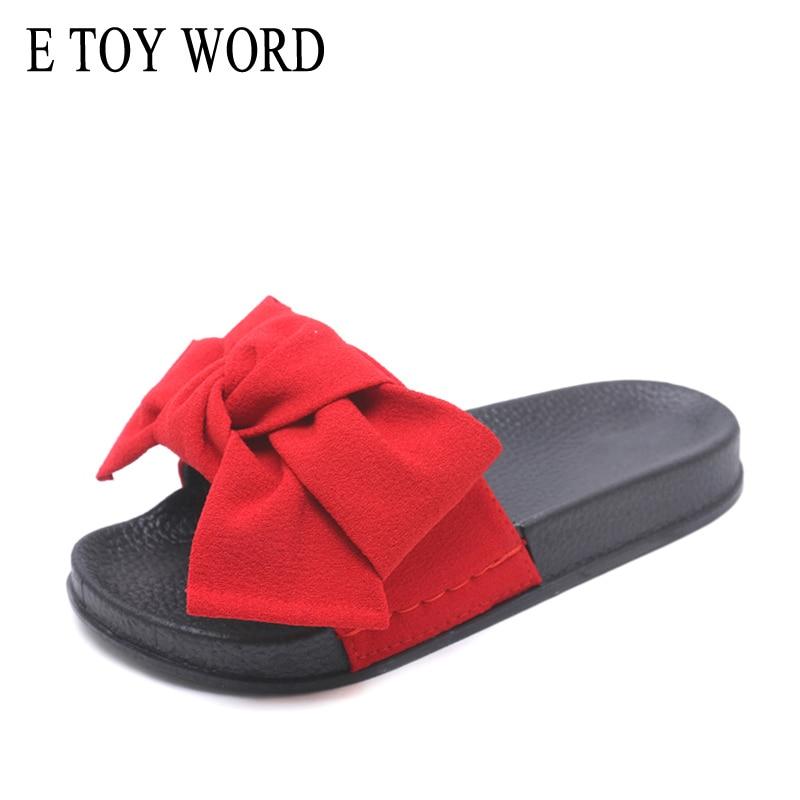 E TOY WORD Uued naised Bow Slippers Kanepi kangas Bowtie Slides Kummi - Naiste kingad