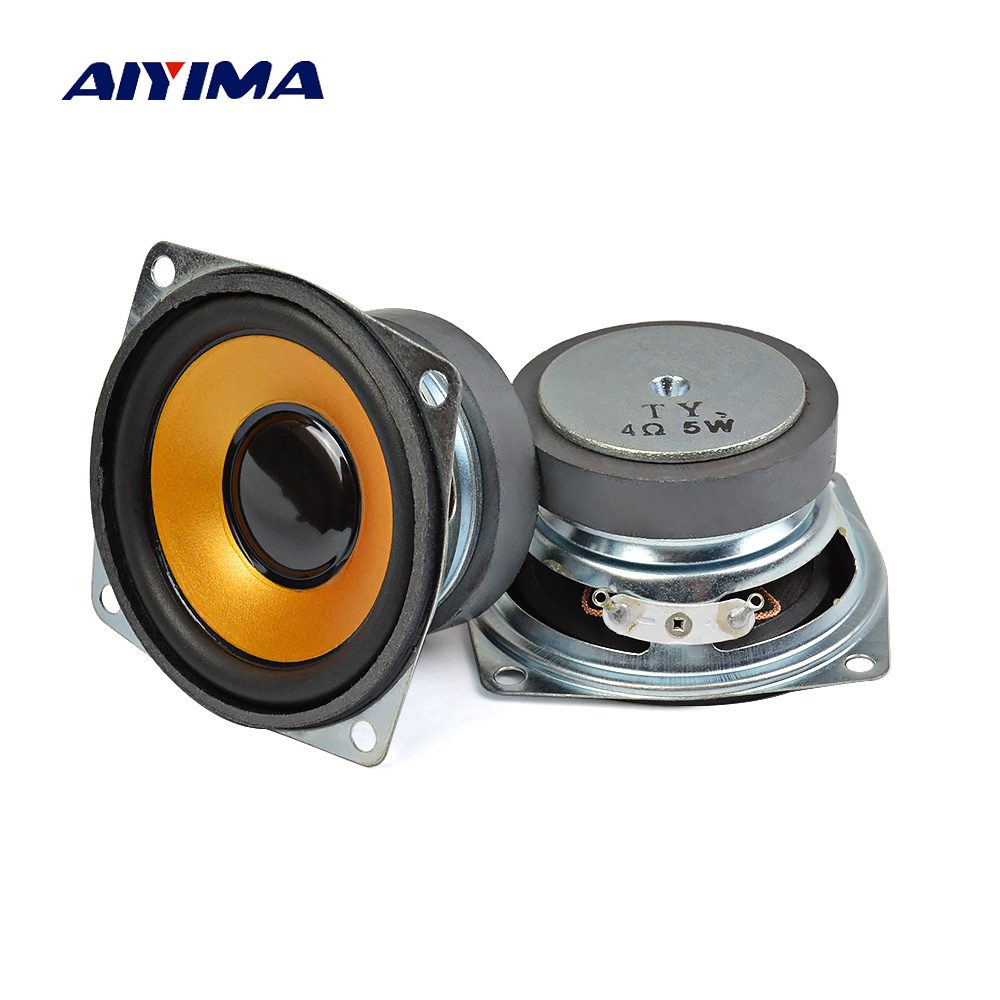 AIYIMA 2PCS 4ohm 5W Audio Speaker 2.5 inch 66mm Full Range Rubber Cone Altavoz Square loudSpeaker DIY Home Theater Sound System new model audio labs top end 4 full range speaker unit sets aluminum bullet 2 layer paper cone for diy home theater