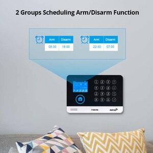 Image 4 - FUERS WIFI GSM מערכת אזעקה אלחוטי בית פורץ אבטחת אזעקה 9 LNG להחלפה RFID LCD PIR עשן חיישן APP בקרה