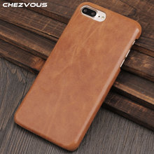 CHEZVOUS For iPhone 7 8 Plus Back Cover Case Retro Matte Leather Phone Ultra Thin Coque 5 colors