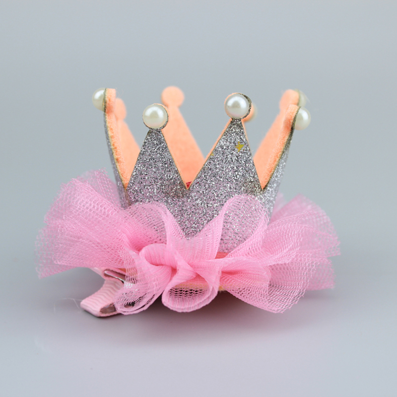 1Pc Girl Headwear Barrette Pearl Tiara Hair Clips for Girls Princess Crown Clamps Hair Clips Hairpins Hairclips Hair Accessories magic elacstic hair bands big rose decor elastic hairbands hair clips headwear barrette bowknot for women girls accessories