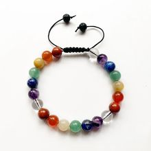 7 Chakra Stones Bracelet Healing Crystal Beaded Yoga Natural Lava Stone Beads End Adjustale 1pc