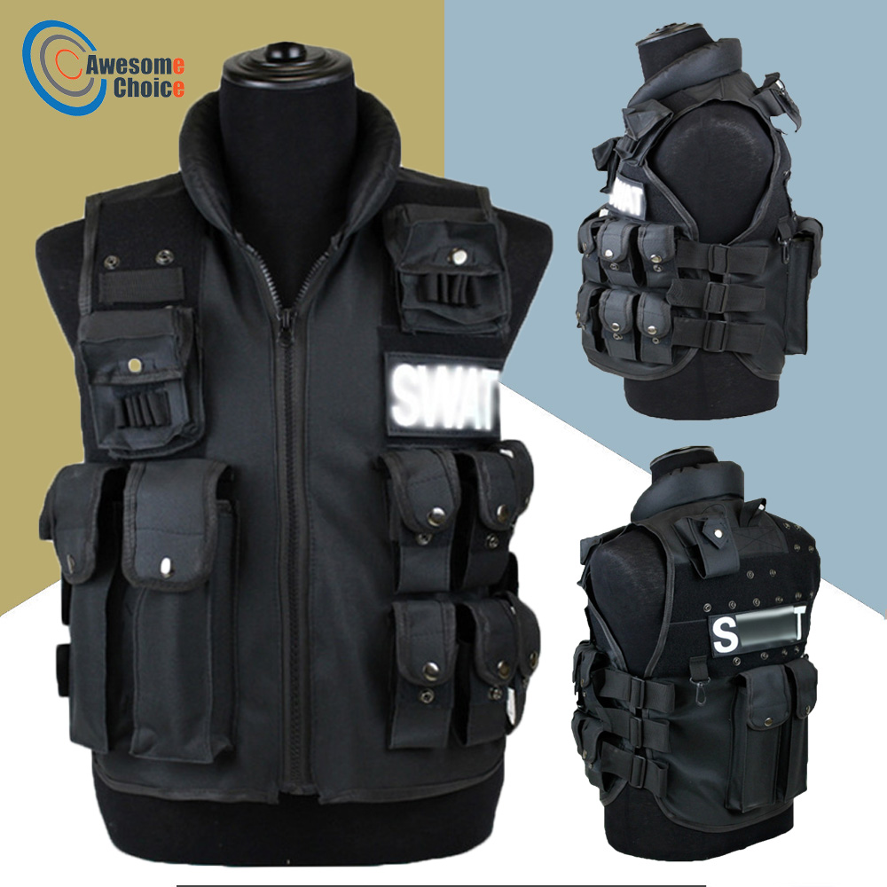 11 Pockets Tactical Vest Men Hunting Vest Outdoor Waistcaot Military Training CS Waistcoat swat Protective Modular Security Vest Рюкзак