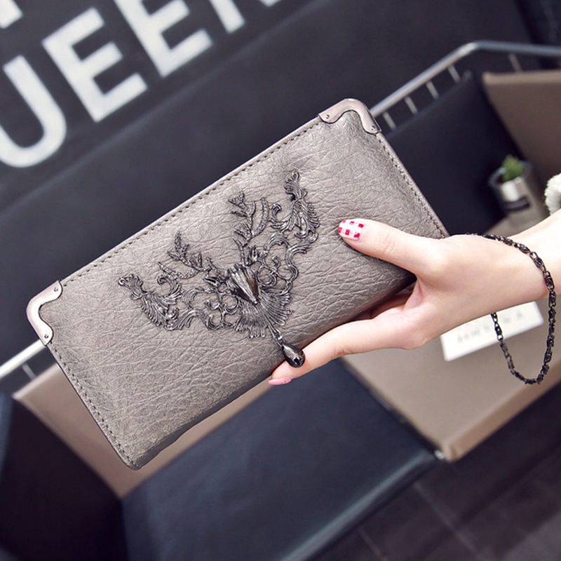 Women Wallet Female Purse Deer Iron Side Wallet Carteira Feminina Wallet Female Long-horn Women Purse Portefeuille Femme 2019